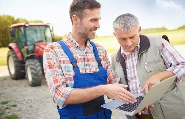 agricultural plan on the laptop