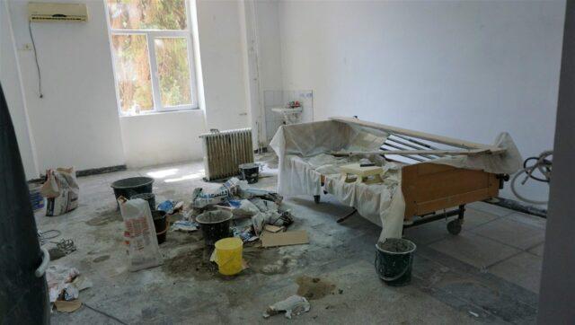 salon in stadiu de renovare