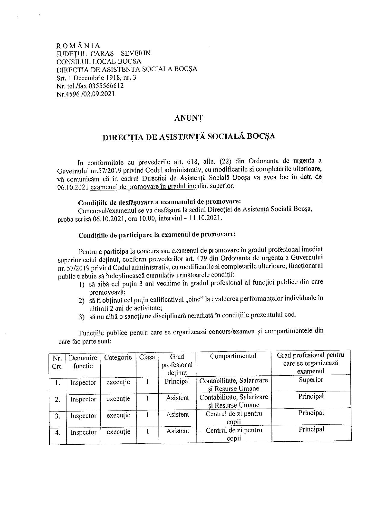 anunt concurs directia de asistenta sociala page 0001
