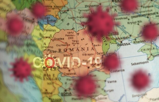 covid 19 outbreak or new coronavirus, 2019 ncov, virus on a map of romania . covid 19 ncp virus: contagion and propagation of disease. pandemic and vi