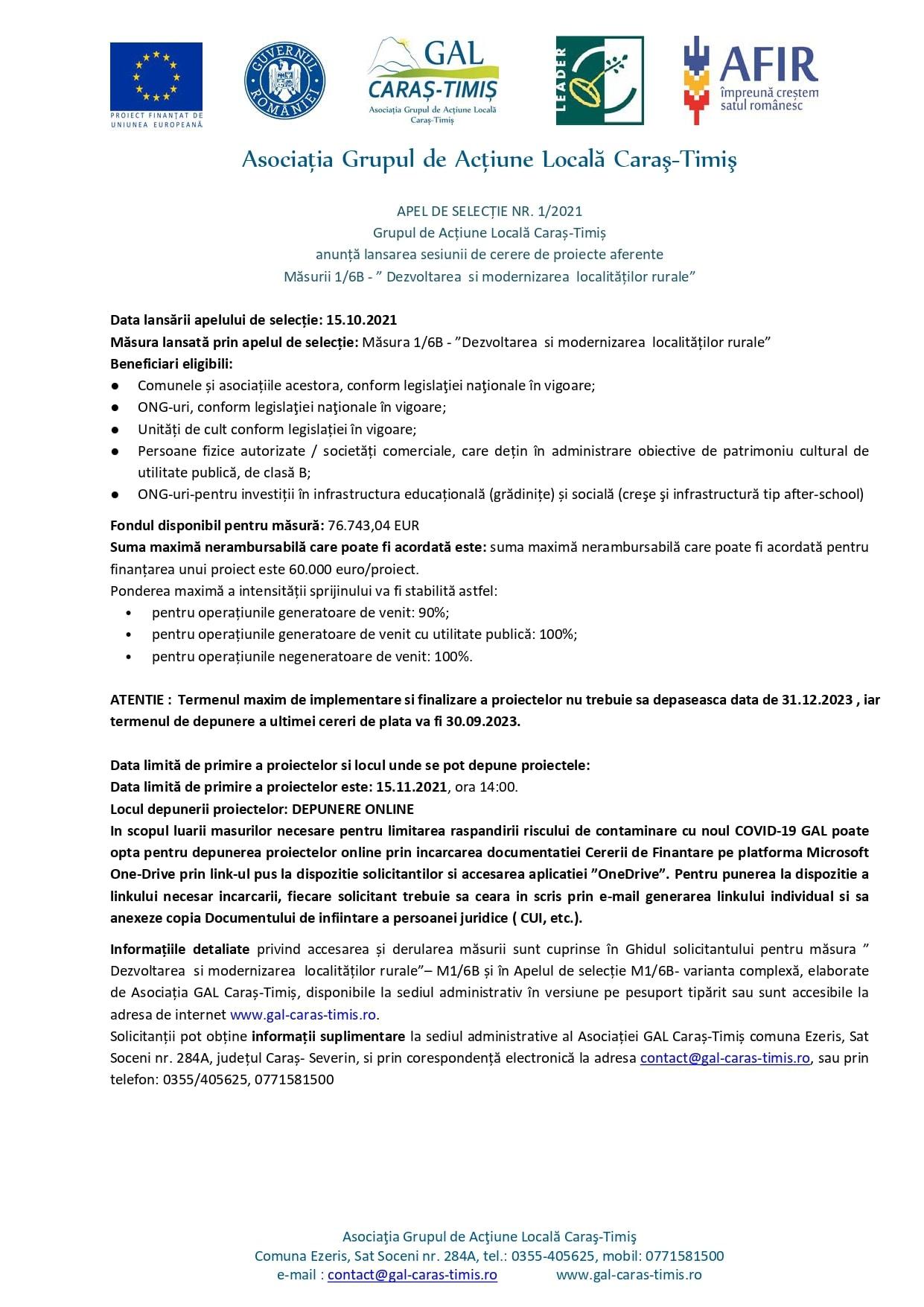 m1 6b m9 1a apel de selecȚie nr. 1 din 2021 simplificat presa page 0001