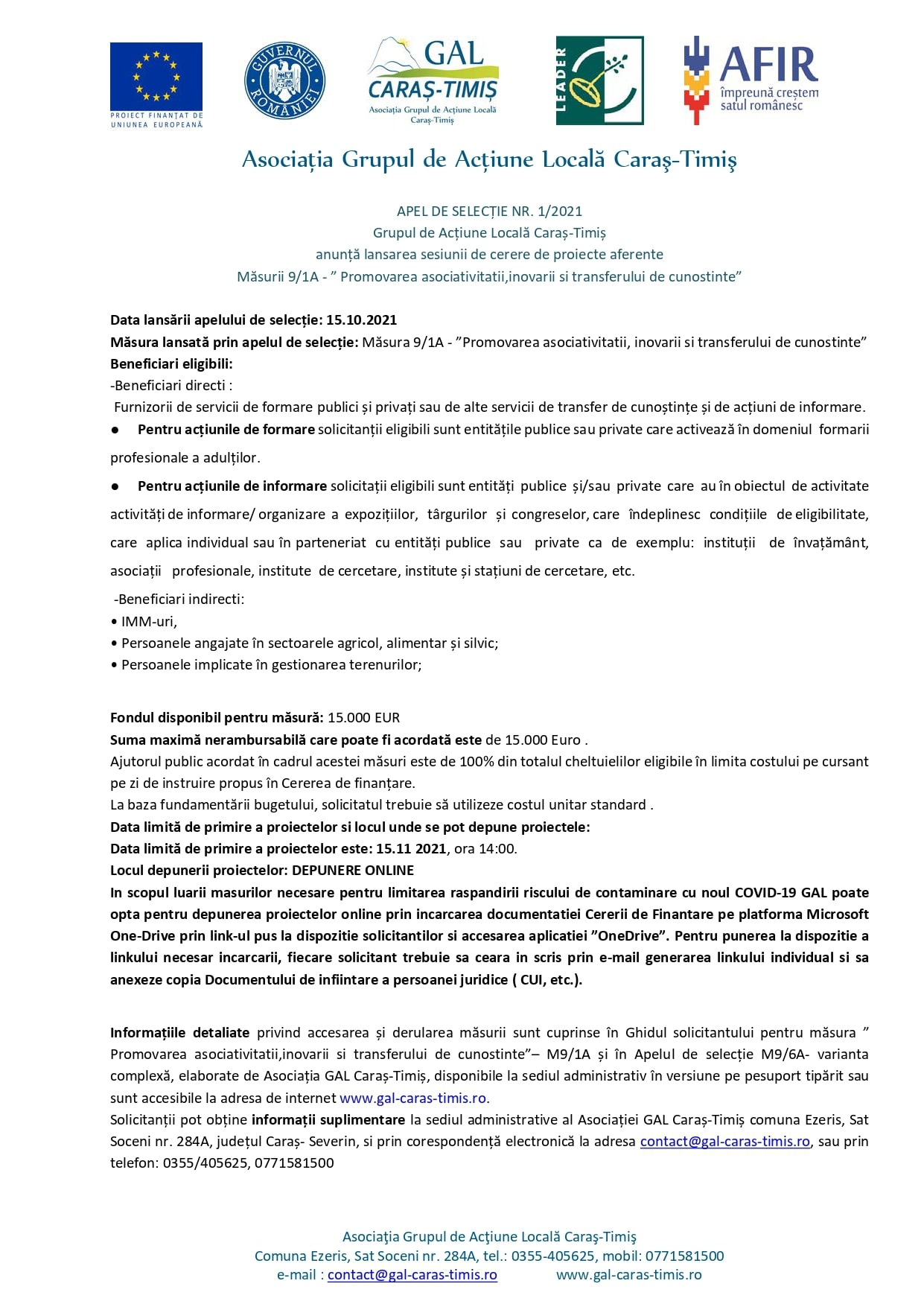 m1 6b m9 1a apel de selecȚie nr. 1 din 2021 simplificat presa page 0002